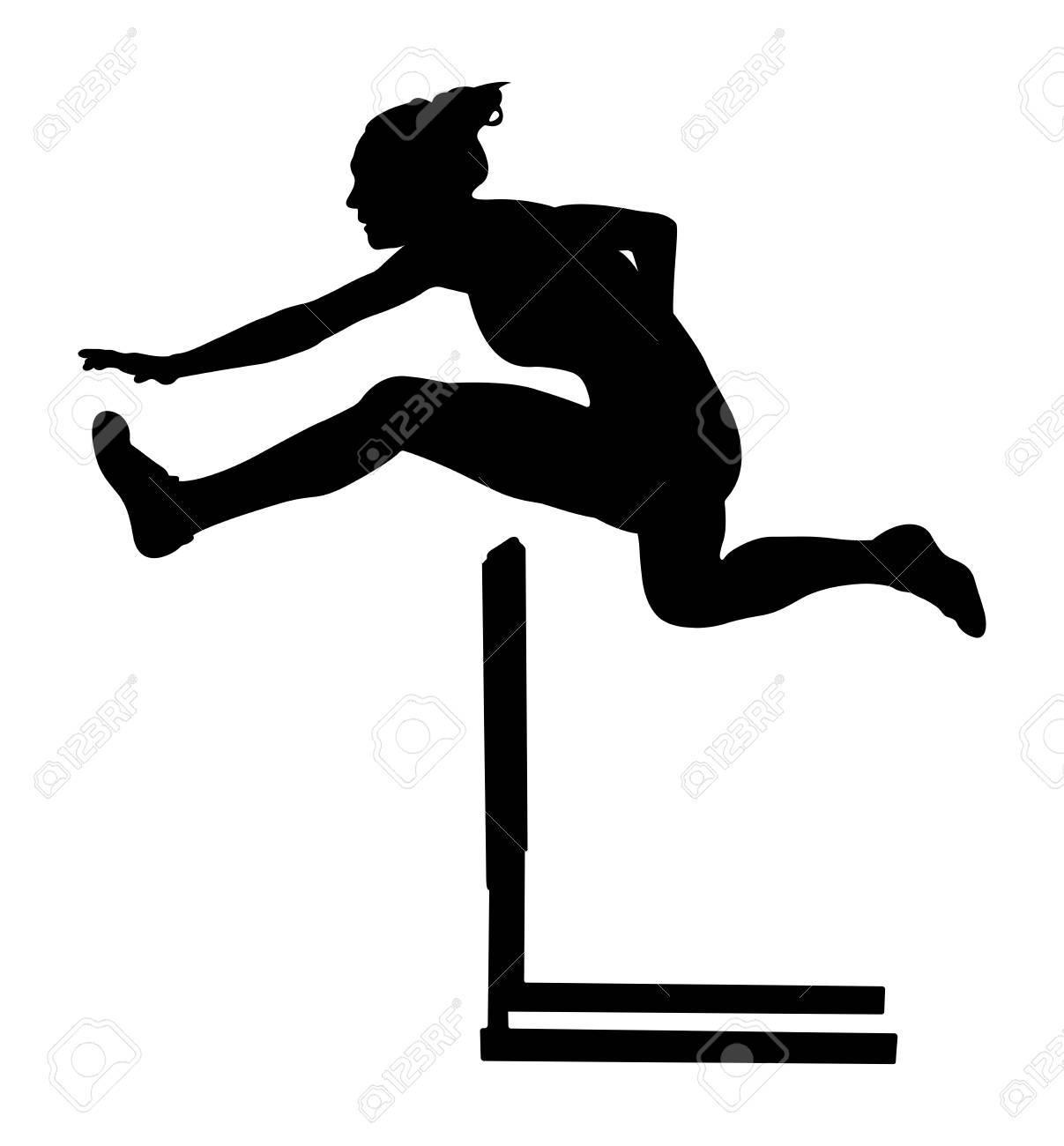 100 m hurdles woman » Clipart Portal.