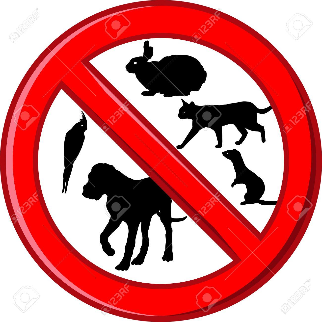 Free Clipart No Pets Sign.