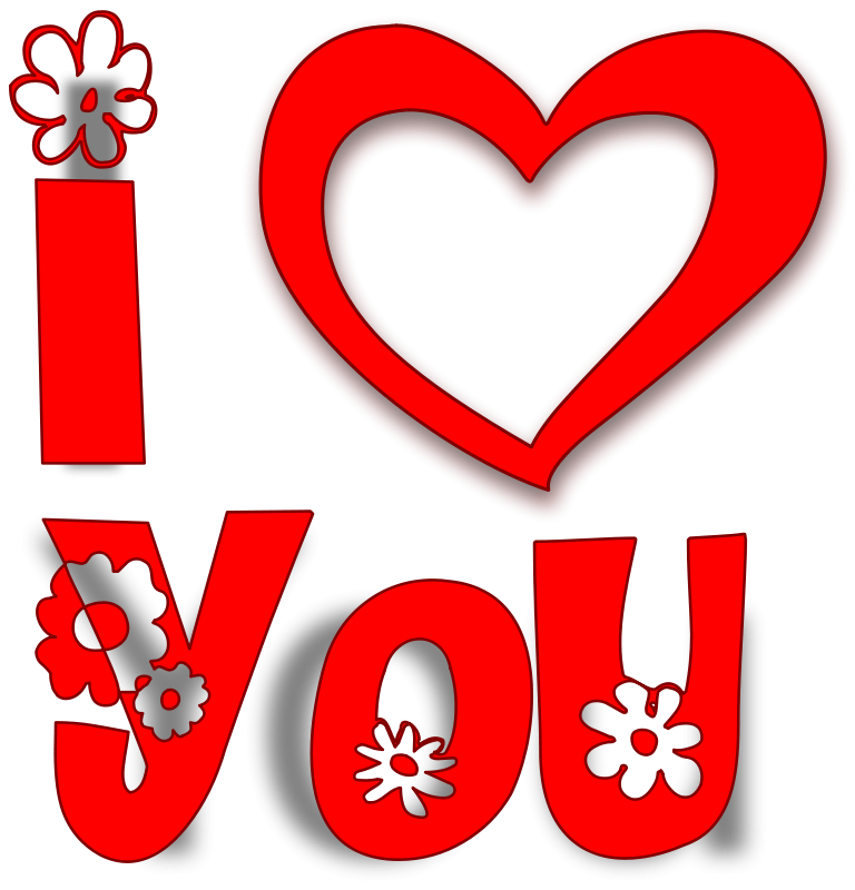 Free Clipart: I Love You.