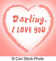 I love you shows affection heart and boyfriend Clip Art and Stock.