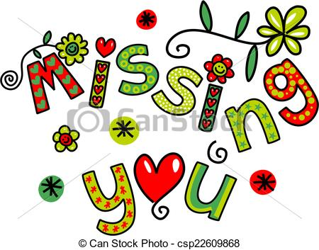 Miss You Clipart.
