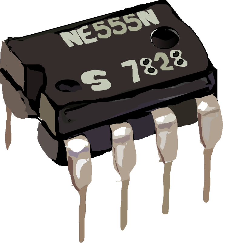 Free Clipart: 555 Timer IC.