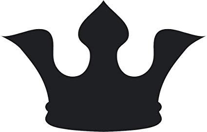 Amazon.com: Simple Black Shadow Silhouette Regal Royal Crown.