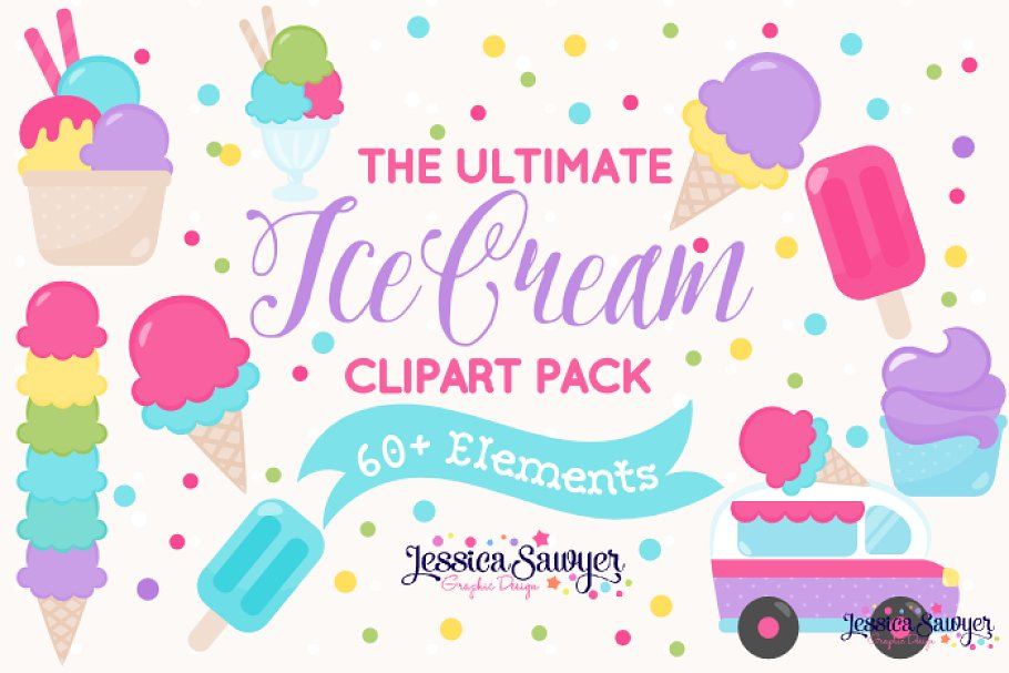 The Ultimate Ice Cream Clipart Pack.