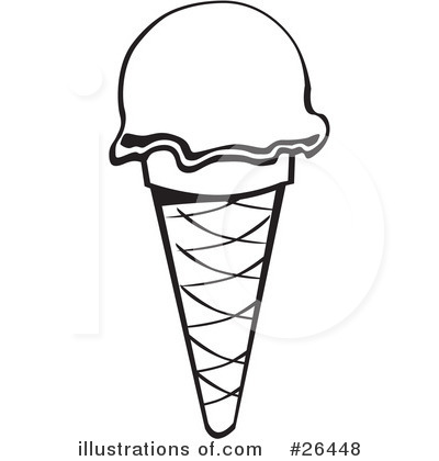 ice cream scoop black and white clipart - photo #29