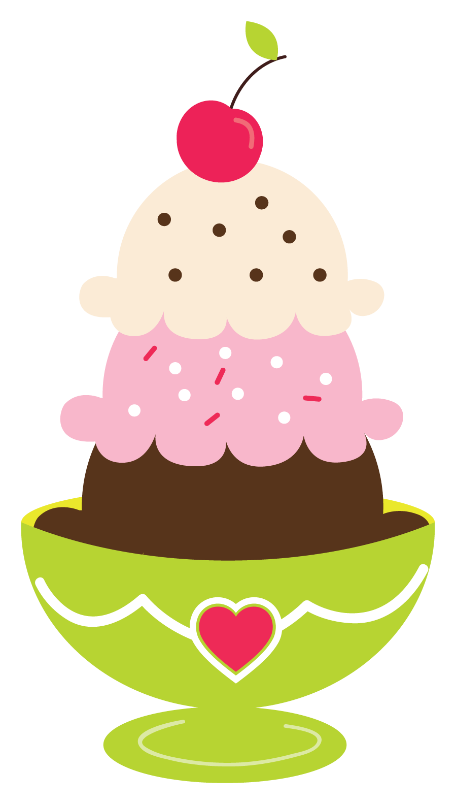 Ice Cream Sundae Clipart.