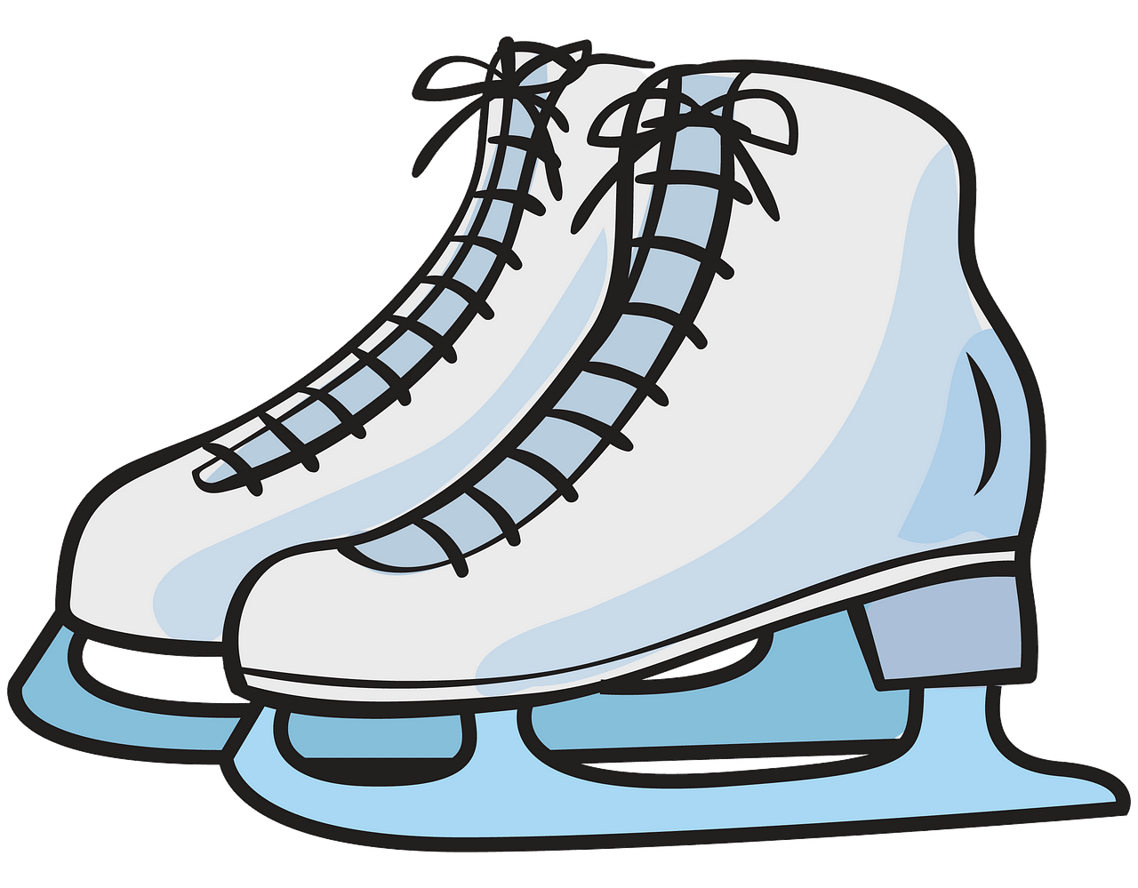 Ice skates clipart. Free download..