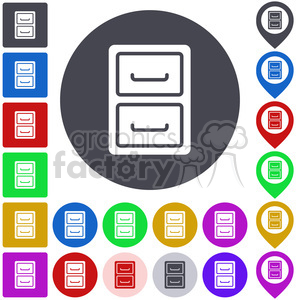 file cabinet icon pack . Royalty.