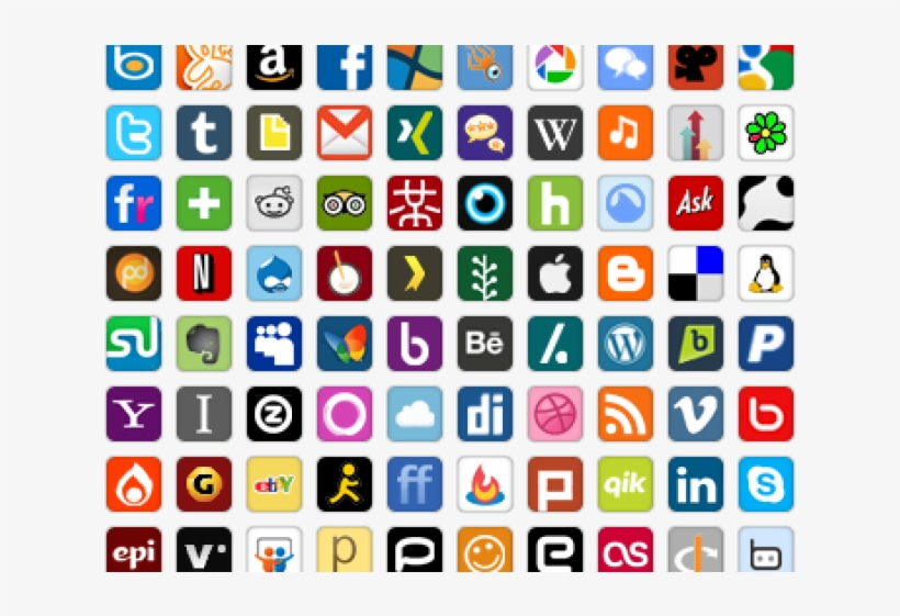 Social Media Icons Clipart Icon Pack.