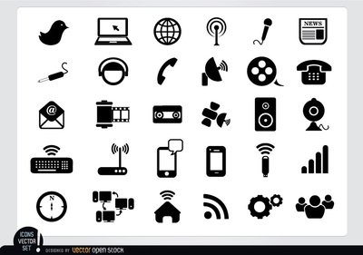 Multimedia Flat Icon Pack Clipart Picture Free Download.