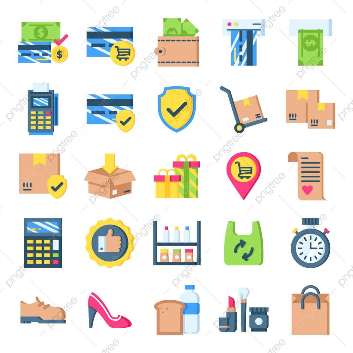 Retail Icons Pack, Bag, Basket, Business PNG Transparent.
