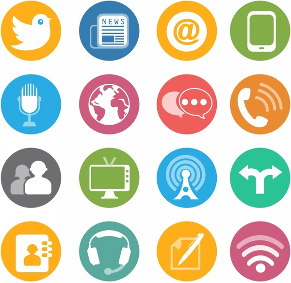 Free social media icons vector free vector download (14,983 Free.