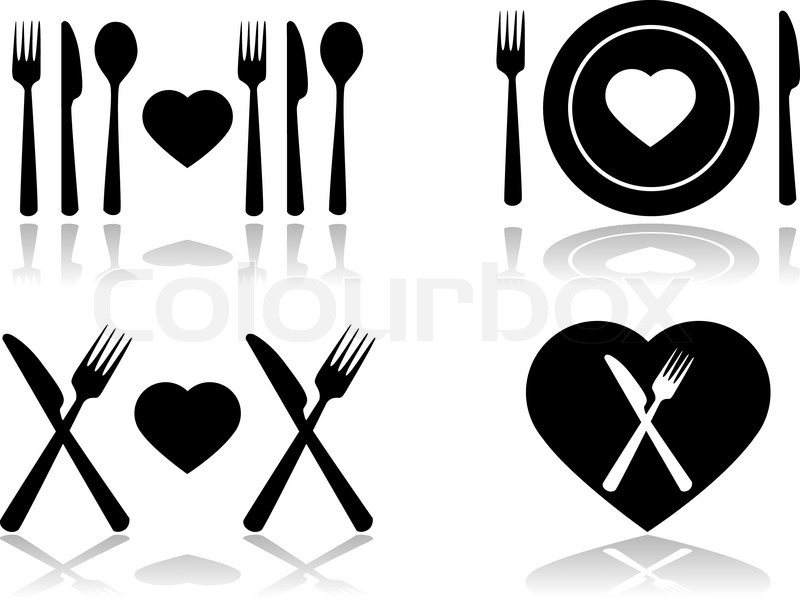 Dinner Icons Free Clipart.