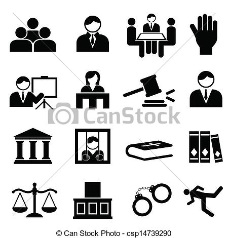 EPS Vectors of Justice and legal icons.