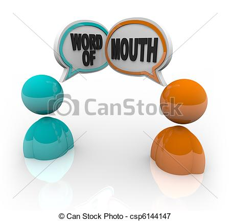 Stock Illustrations of Word of Mouth.