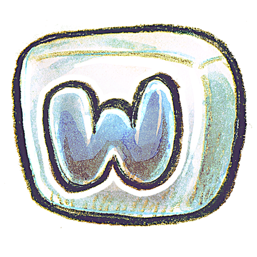 Crayon MS Word 2 Icon, PNG ClipArt Image.