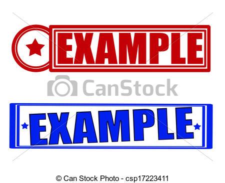 Vector Clip Art of Example.