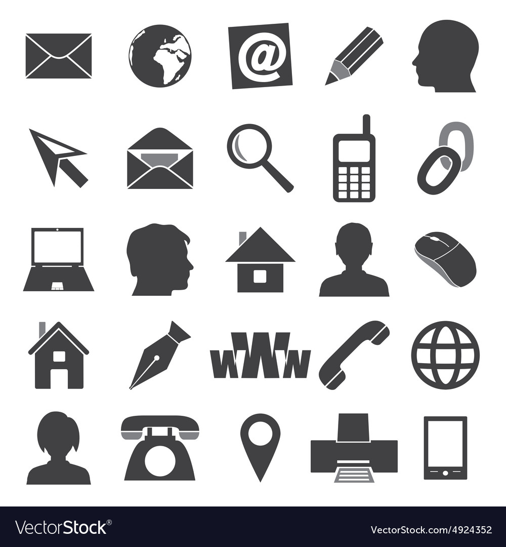 Simple icons for business card and everyday use.