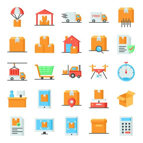 Logistic icons pack.