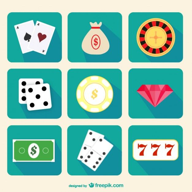 Casino Icons Pack Free Vector.