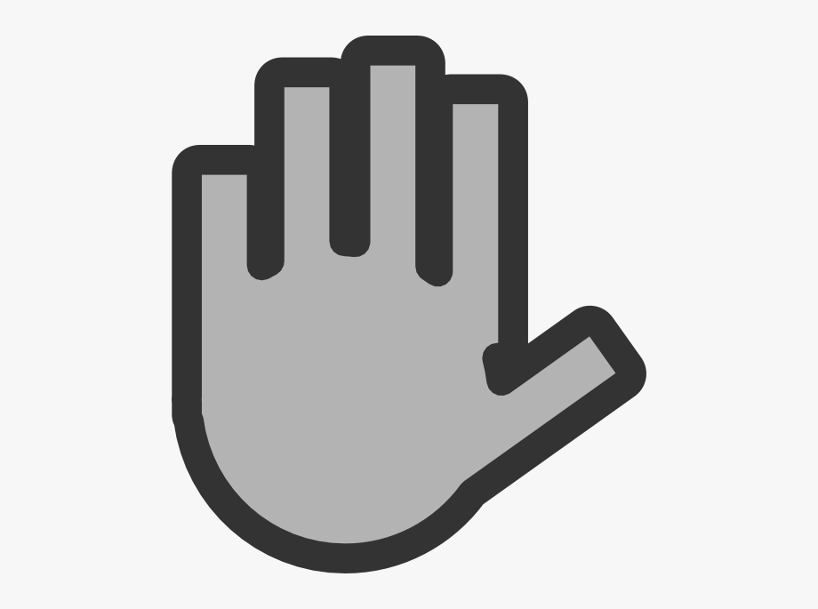 Hand Wave Grey Clipart.