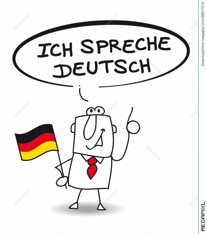 Ich Spreche Sehr Gut Deutsch Illustration 38617010.
