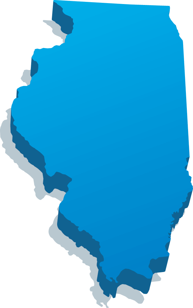 Illinois Map.