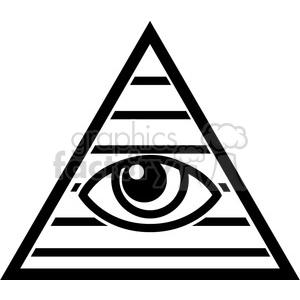Illuminati clipart. Royalty.