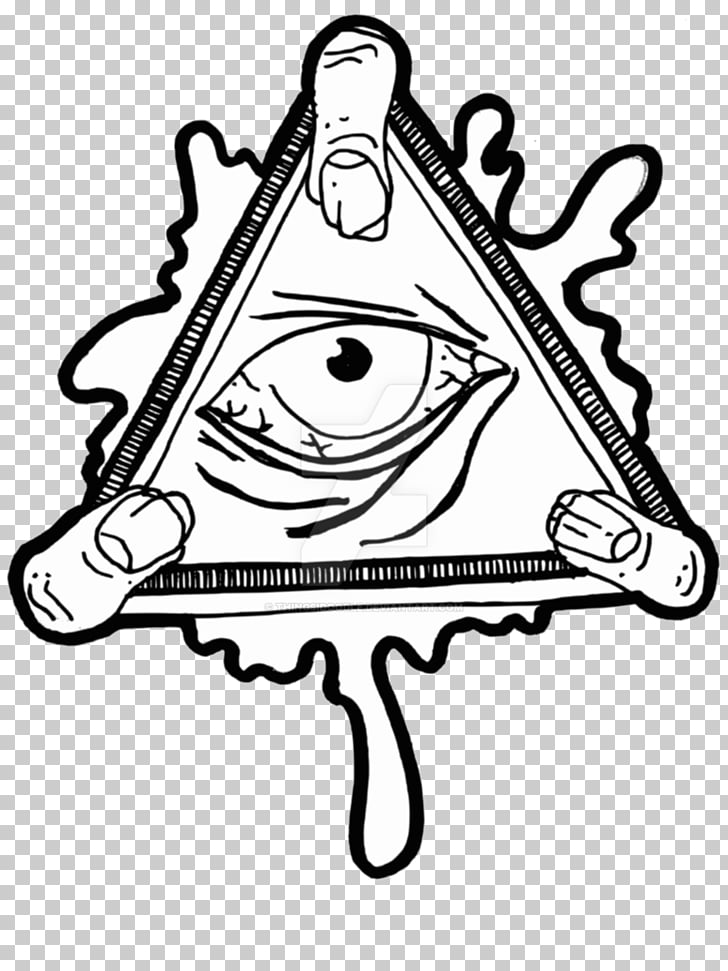 Eye of Providence Illuminati Sticker Decal , all seeing PNG.