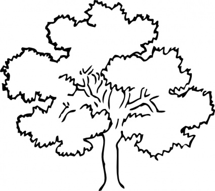 Tree Image Black And White Clipart.