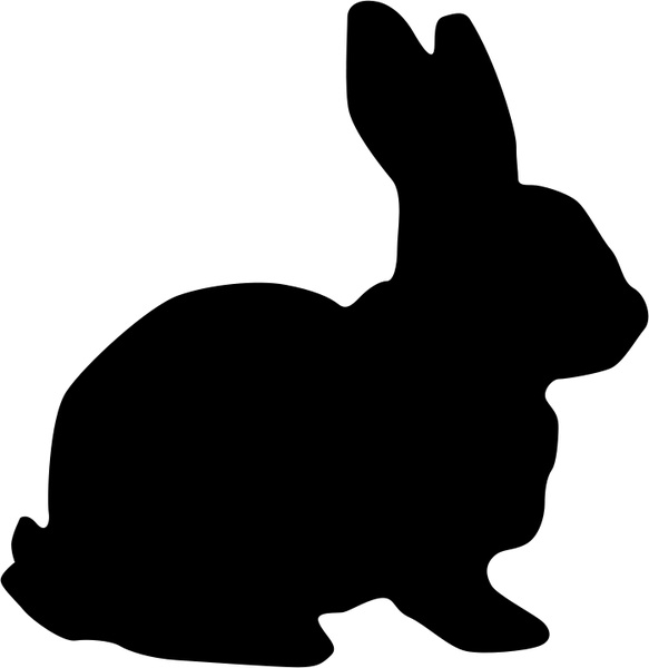 Rabbit Silhouette Clipart.