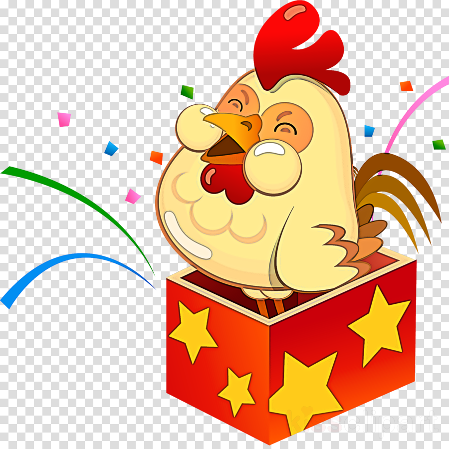 cartoon chicken rooster clipart.
