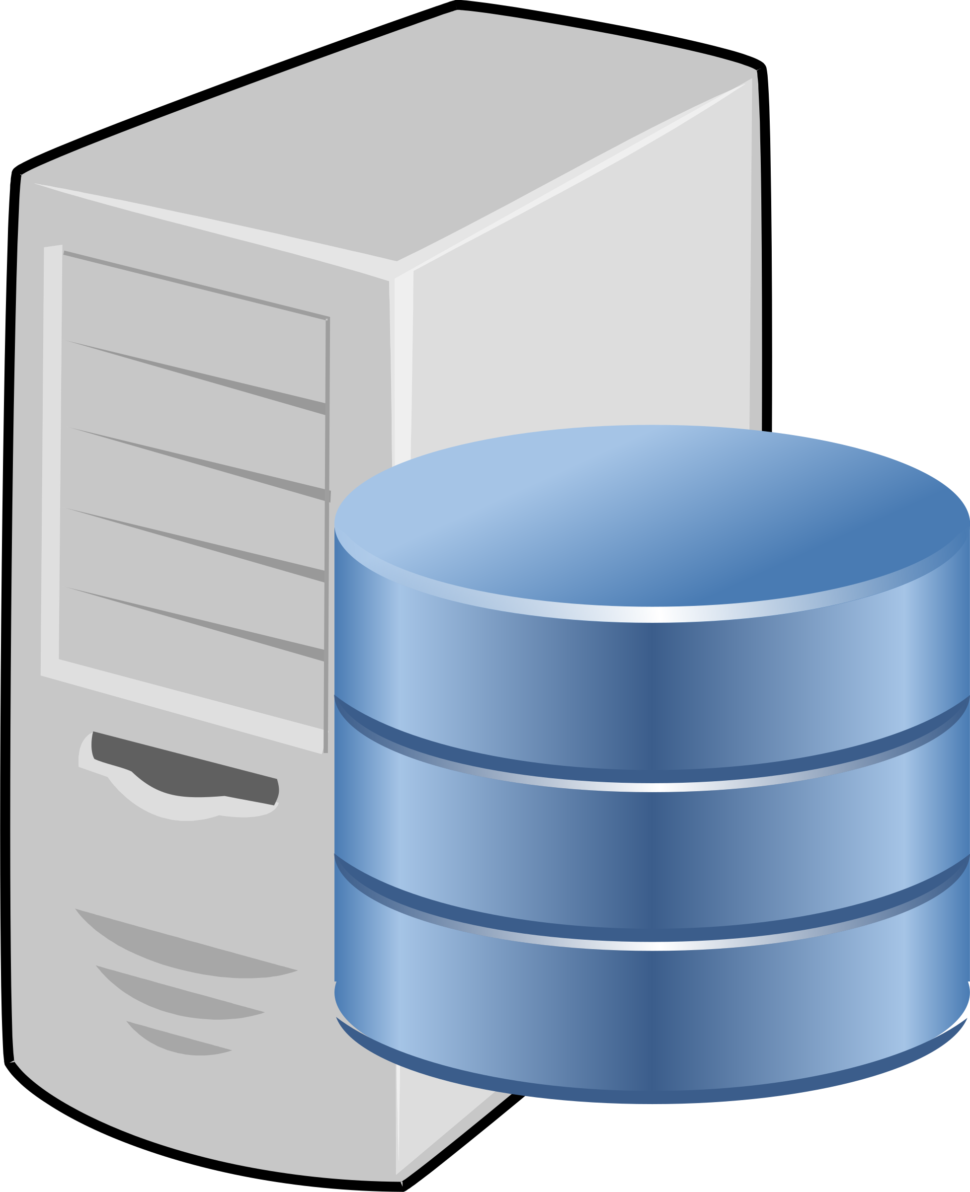 Computer Database Clipart.