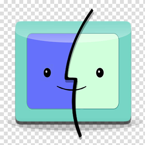 BMO Finder Icon transparent background PNG clipart.
