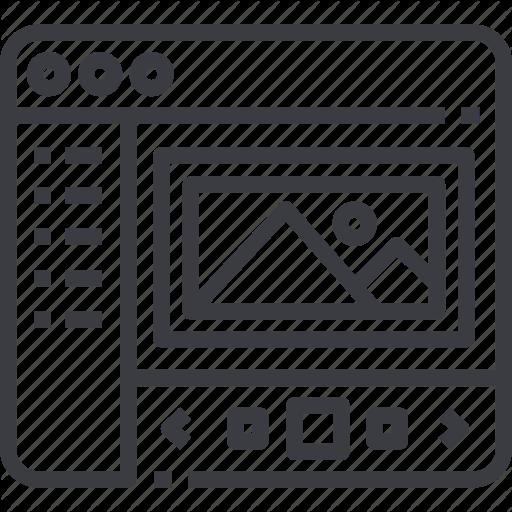\'Web Design Line Set\' by Kucingklawu Std..
