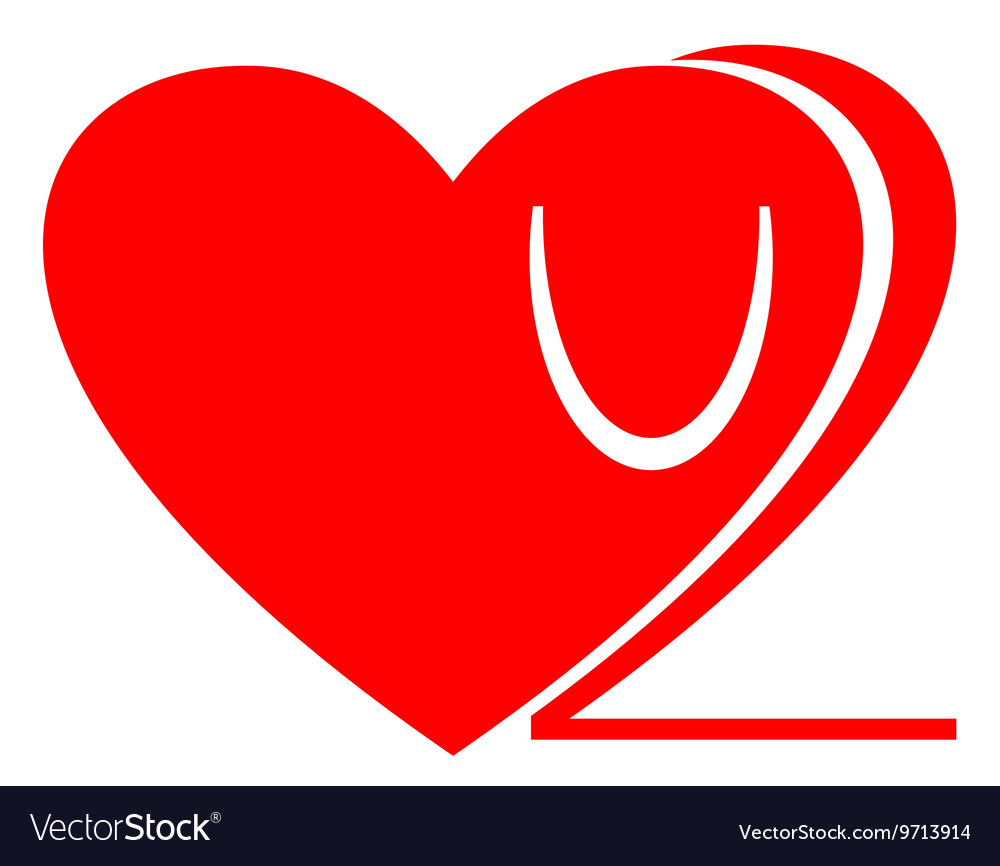 Love you too icon Love u 2 clipart Isolated.