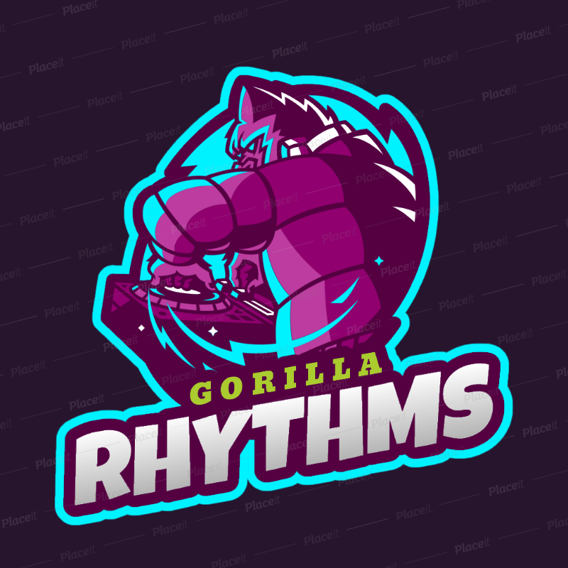 Online Logo Maker for DJs with a Gorilla Clipart 2656f.