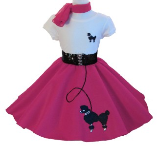 Clipart Image Of Girl In Poodle Skirt.