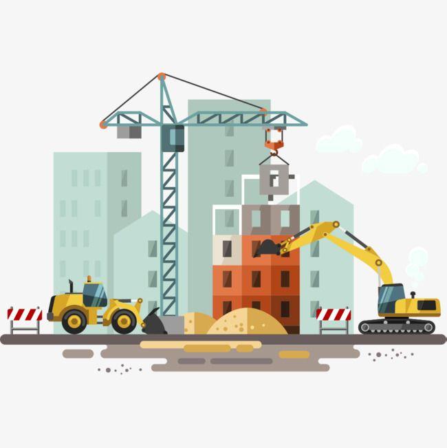 Construction Site, Construction Clipart, Building.