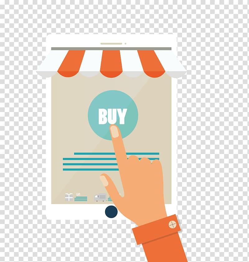 Online shopping Illustration, online selection transparent.