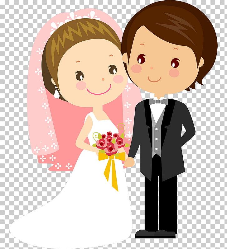 Wedding invitation Bridegroom Cartoon, wedding couple.