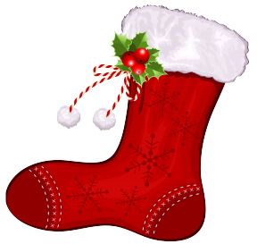 Clipart Image For Butterflies And Christmas Stockings.