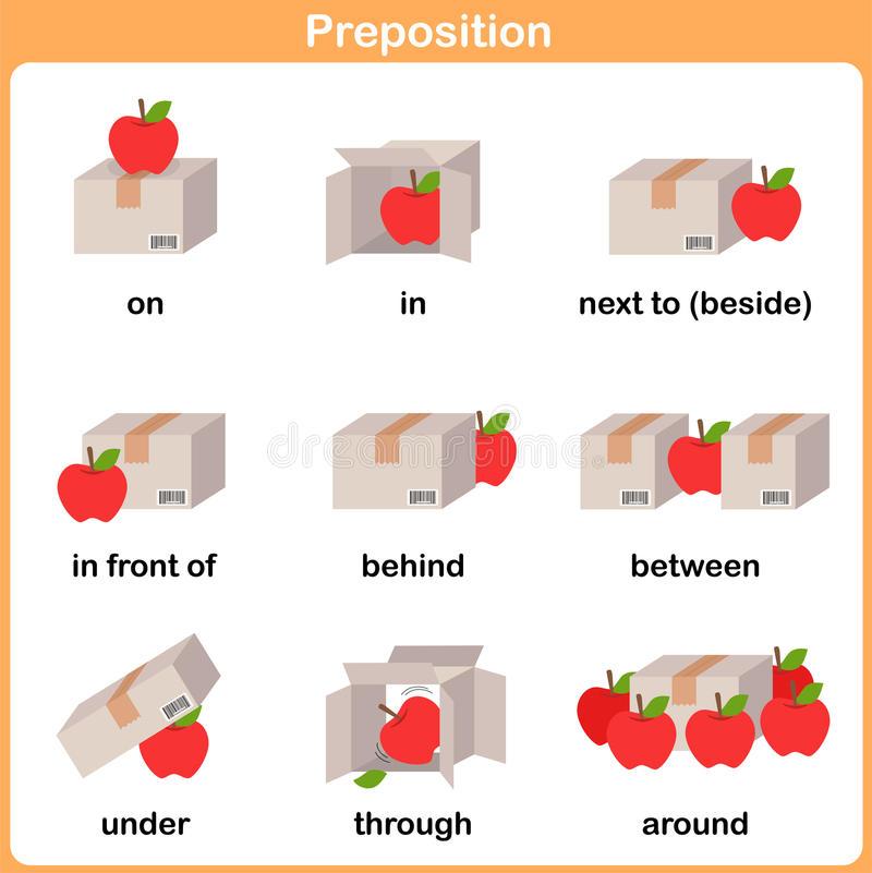 Preposition Stock Illustrations.