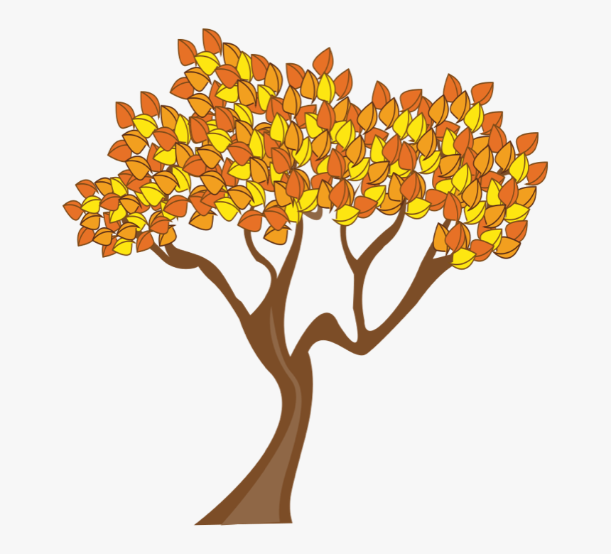 Tree In Autumn Clipart, HD Png Download , Transparent Png.