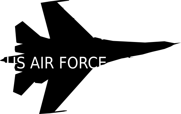 Air Force Airplane Clipart.