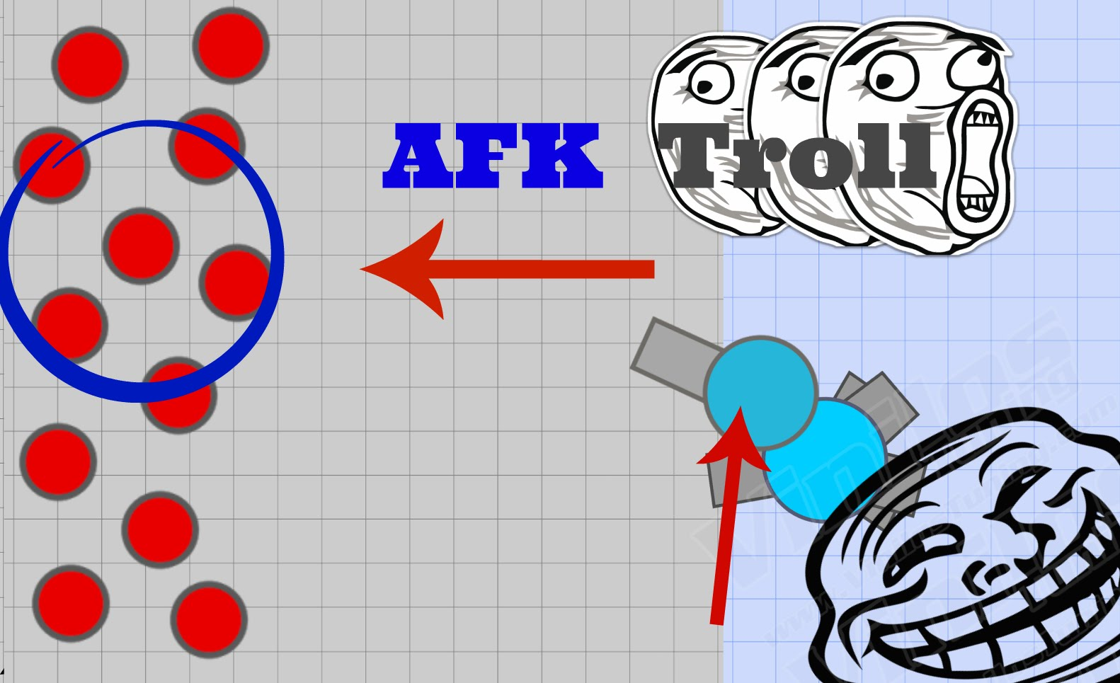 NEW DIEP.IO AFK TROLL // KILLING TEAMMATES // + BUMPING INTO.