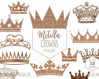 ROSE GOLD CROWN Clipart for Commercial Use Clip Art Antique.