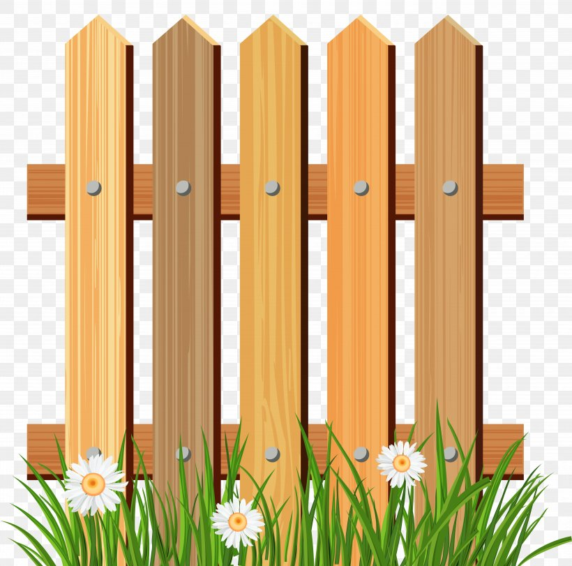 Picket Fence Flower Garden Clip Art, PNG, 5165x5109px, Fence.