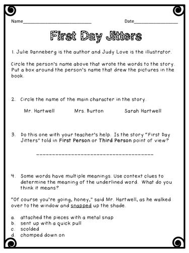 First Day Jitters by mrsschoolteacher.