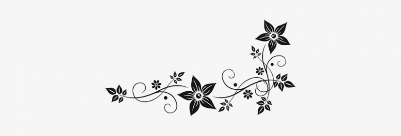 Vector Graphics Flower Border Black White Clip Art ...